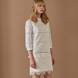 Magan_Lace Patched Mini Dress