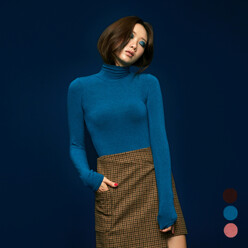 [5%SALE+5%쿠폰]Basic Turtle Neck Top