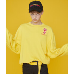 Road Sign Stop Sweatshirt Yellow