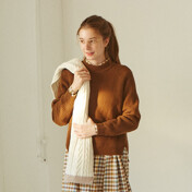 Lambswool Knit Brown