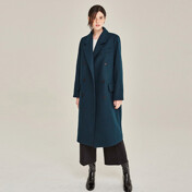 [20%SALE]Glamour Wool Double Coat (Blue Green)