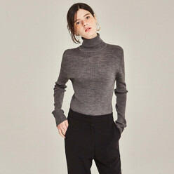 [20%SALE]Fine Turtleneck Sweater (Charcoal)