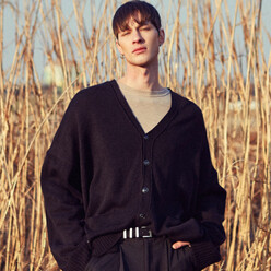 Oversize Basic Cardigan_Black