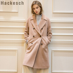 [10%SALE+5%쿠폰]H Button Double Coat_Indi Pink