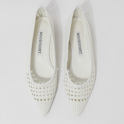 [EXCLUSIVE BRAND]Weaving siletto flat_1cm