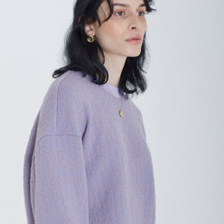 [카인다와이와이와이]Oversized Wool-Blend Knit Top