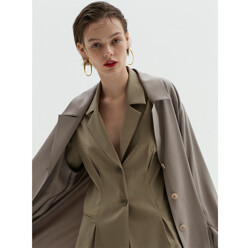 Morocco Wool Jacket - Dark Beige