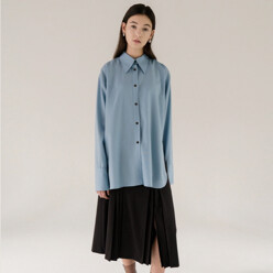 Big Collar Shirt(Light Blue)