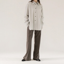 Big Collar Shirt(Light Grey)