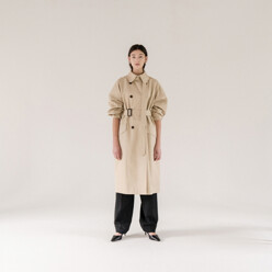 Long-Strap Trench coat(Beige)