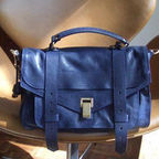 Ps1 Medium Leather Satchel (Midnight)
