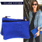 Flat Clutch(Blue Pebble)