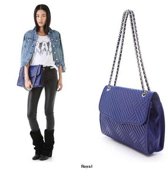Wizwid 위즈위드 Rebecca Minkoff 레베카 밍코프 Line Quilted Large