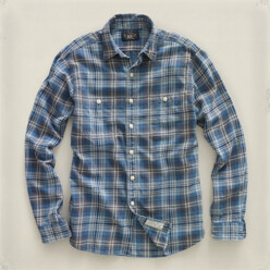 [10%��������]Indigo Plaid Far...
