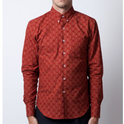 Red Flower Regular Shirt