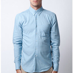 Pale Blue Brushed Twill R...