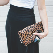 [9%��������][��Ư������]Foldover Clutch In Natural Leopard