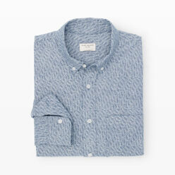 Slim-Fit Leaf Chambray Sh...