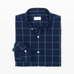 Slim-Fit Windowpane Shirt