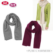 [1+1]Cashmere Scarf
