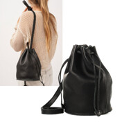 [Ư���԰�]Leather Drawstring Bucket Bag