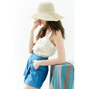 [Ư������]Relaxed High/Low Straw Hat