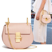 Drew Small Shoulder Bag In Cement Pink