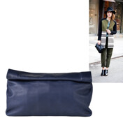 [���÷�]The Dinner Clutch In Navy Pebble