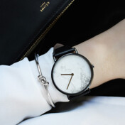 [10%��������][����Ÿ��]White Marble Dial/Black Band