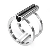 [���귣��]Heart Double Band Ring