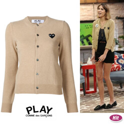 [2 Color]Women Play Wool Cardigan Black Emblem
