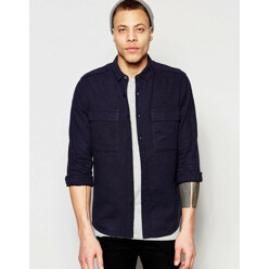 Navy Military Shirt In Re...