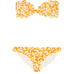 Marysia Swim Antibes Printed Scalloped Bandeau Bikini 할인가 465,000원