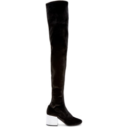 MM6 Maison Martin Margiela Black Velvet Over-The-Knee Boots 할인가 1,131,400원