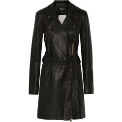 The Long Moto Leather Trench Coat