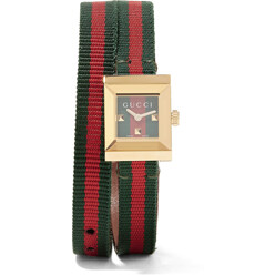 Gucci Canvas And Gold-Tone Watch 할인가 1,233,400원