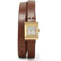 Gucci Leather And Gold-Plated Watch 할인가 1,341,000원