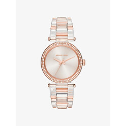 Michael Kors Delray Pave Rose Gold-Tone And Acetate Watch 할인가 336,200원