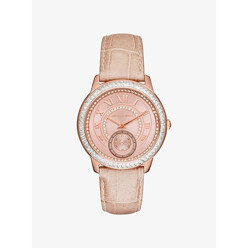 Michael Kors Madelyn Pave Rose Gold-Tone And Leather Watch 할인가 226,300원