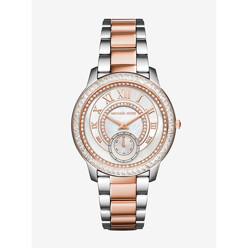 Michael Kors Madelyn Pave Silver And Rose Gold-Tone Watch 할인가 274,600원