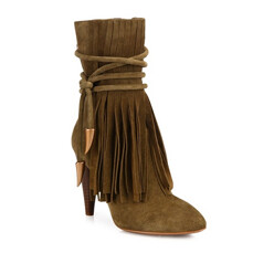 Ash Bird Fringed Suede Point-Toe Booties 할인가 597,000원