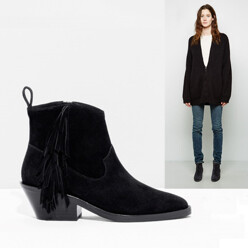 &OtherStories Suede Western Boot 할인가 220,200원