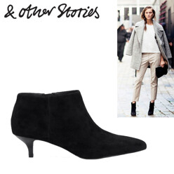 &OtherStories Kitten Heel Suede Boot 할인가 180,100원