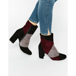 Glam Orous Patchwork Heeled Ankle Boots 할인가 100,500원