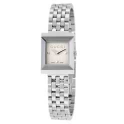G-Frame Silver Guilloche Dial Stainless Steel