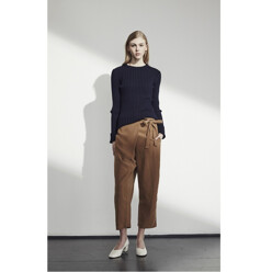 Wrap Front Trousers - Camel