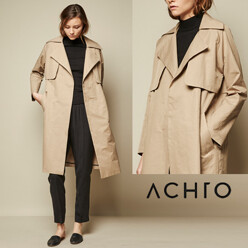 Washed Twill Trench Coat ...