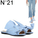 [S/S신상품]Striped Bow Sandals