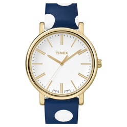 Classic Dot Leather Strap Watch, 38mm