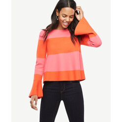 Striped Flare Cuff Sweater